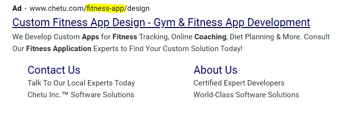mix up the keywords placement